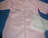 PINK NIGHTIE WITH MATCHING DIAPER FOR YOUR BABY DOLL OR BUILD-A-BEAR --- CUTE