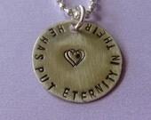 Eternity Necklace, Faith Necklace, Scripture Necklace, Religious Necklace, Ecclesiastes 3:11, Bible Verse Necklace, Quote Necklace