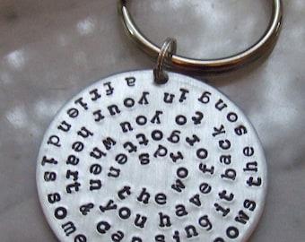 Best Friends Key Ring, Friends Keychain, Friendship Quote Key Ring, BFF Key Ring, Besties Key Ring, Gift for Friends, Quote Keychain, Keys