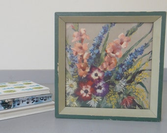 Vintage Floral Bouquet Framed Artwork