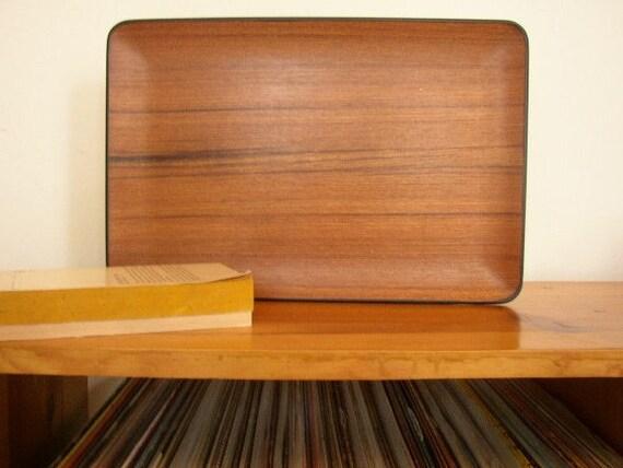 Vintage Modern Wood Grain Tray