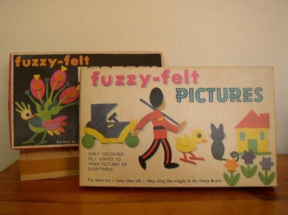 Vintage Fuzzy Felt Play Set - Fuzzy Felt Fantasy and  Fuzzy Felt Pictures