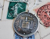 law and order wax seal necklace… keeper of the seal of France ~ scales of justice wax seal jewelry