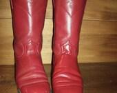 Red Leather Laredo Ropers sz 7 women