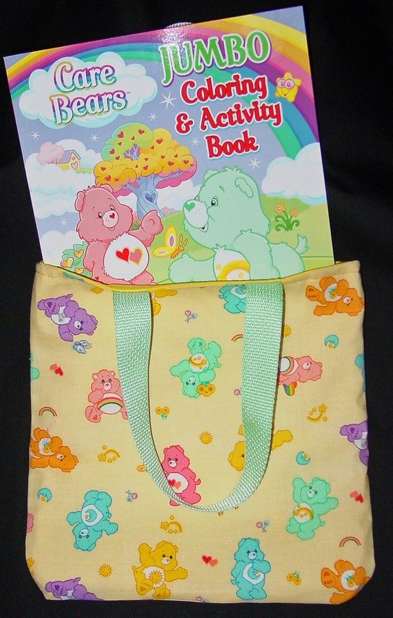Tote Bag - Carebears  Reversible with free Coloring book