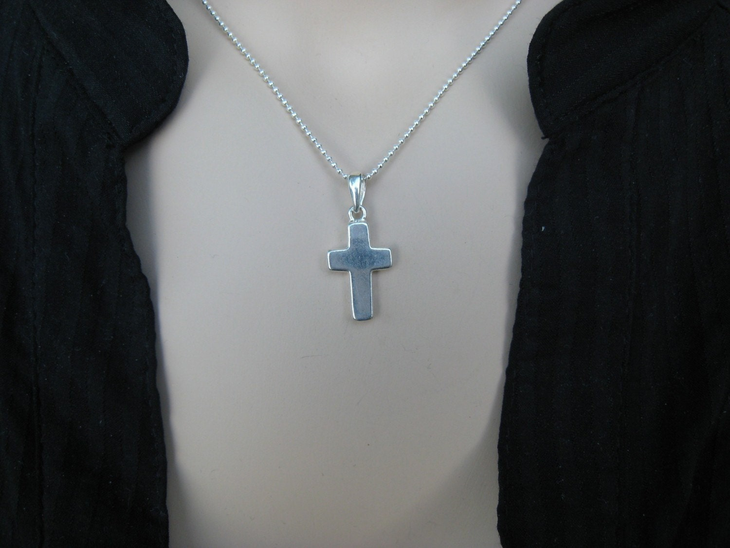 Simple Sterling Silver Cross Necklace