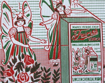 Vintage Fairies Starch Bag - Advertising Lincoln Chemical Works Chicago, Illinois - 5 lb Bag