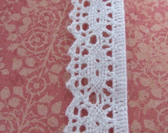 20 Yards of White Cluny Lace Trim 1 Inch Wide