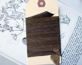 Tobacco Half Inch Silk Ribbon
