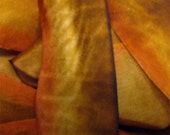 Autumn Leaves  Hand Dyed Silk Ribbon - One and three eights wide