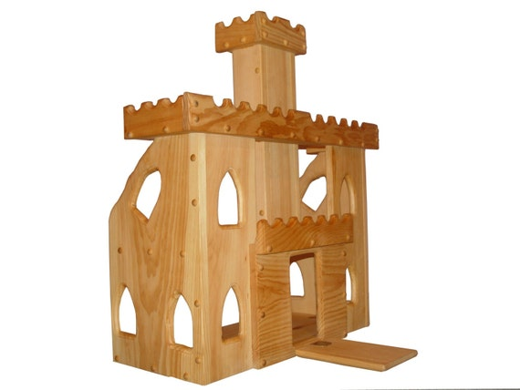 Toy Castles For Boys : Items similar to wooden toy castle waldorf kids toys child