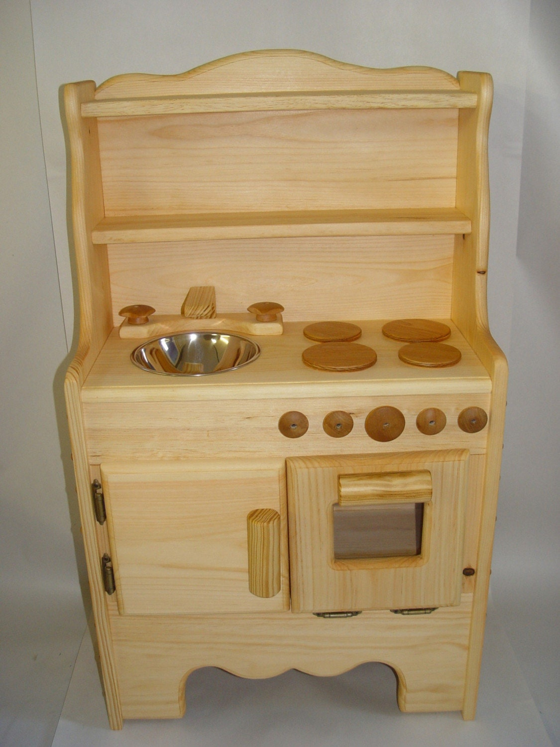 Child S Wooden Play Kitchen Waldorf Kids Toys Stove Oven
