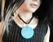 Blue Mother of Pearl Choker MSD