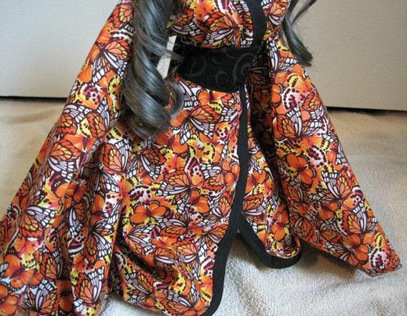 Orange Butterfly Kimono SD