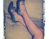 Blues shoes and fishnets-signed by artist-11x14 image matted in 16x20