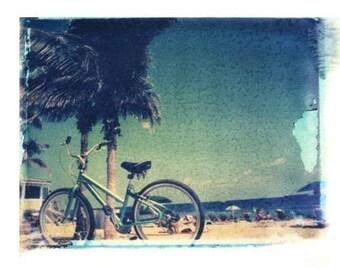 Bicycle Beach Polaroid by Matt Schwartz 11x14 Print