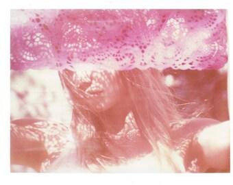 Pink Pastel California Polaroid Transfer Art 8x10 Print