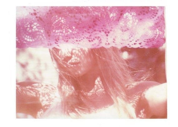 Pink Pastel California Polaroid Transfer Art 8x10 Print