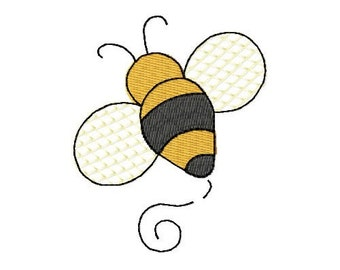 Bee Mini Gone BIG Embroidery Design                       INSTANT DOWNLOAD