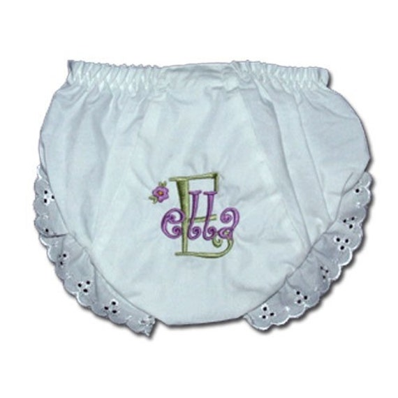 Personalized Ruffle Bloomers - Monogramed