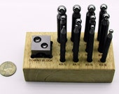 13 Piece Mini Doming Punch And Dapping Block Set