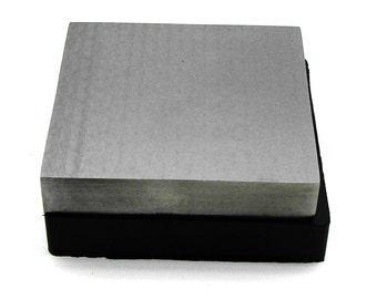Steel & Rubber Bench Block Set - 4 x 4 x 3/4 Inch