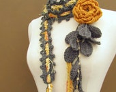 Queen Ann Rose Lariat- Marigold-Reserved listing for Tracy