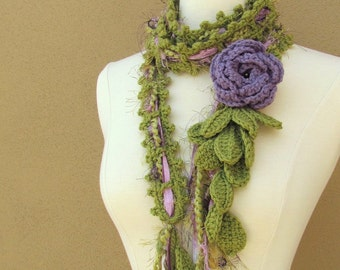 Queen Ann Rose Lariat-Lavender