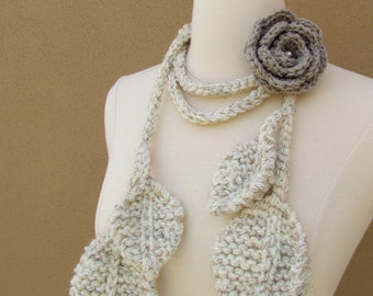 Tuscany Rose Lariat-Natural-2 pcs set