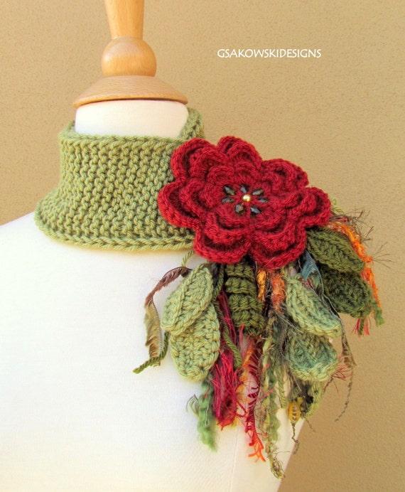 Brick Flower Scarflette
