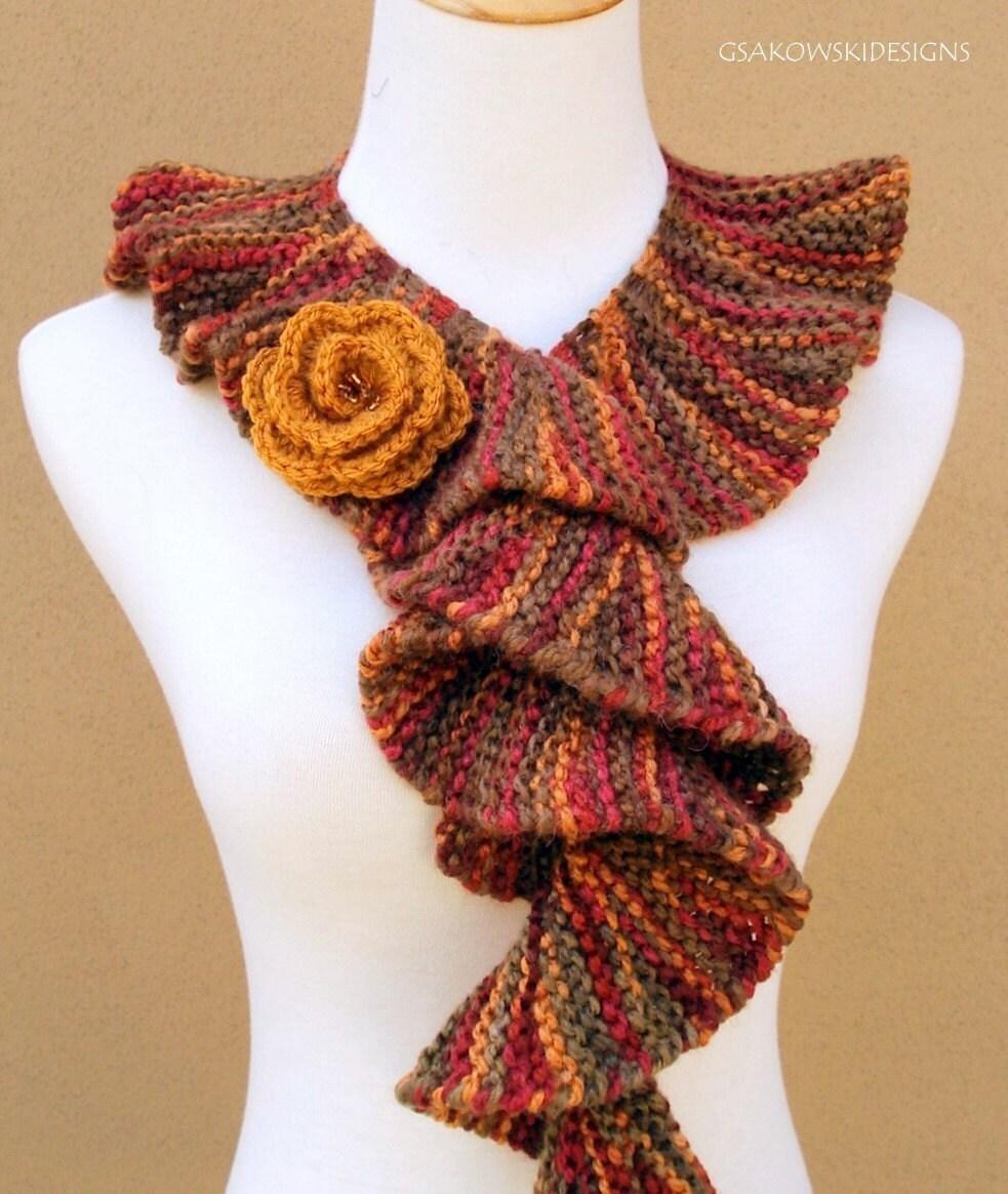 Free Knitting Pattern For Spiral Scarf : London Spiral Scarf-Honey