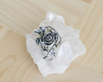 Hair Hook Hair Accessory - Silver Rose FREE USA SHIPPING!