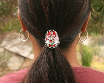 Red Enamel Kingdom Crest Hair Hook Hair Accessory FREE USA SHIPPING!