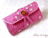Crochet Hook Case Crochet Hooks Organizer Holder in Magenta Pink Puchsia