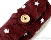 Crochet Hook Organizer Crochet Hook Case Holder Needle Case Craft Bag in Burgundy
