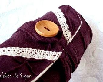 DPN Needle Case Needle Holder Craft Bag Knitting Needle Case DPN Case in in Egg Plant Purple