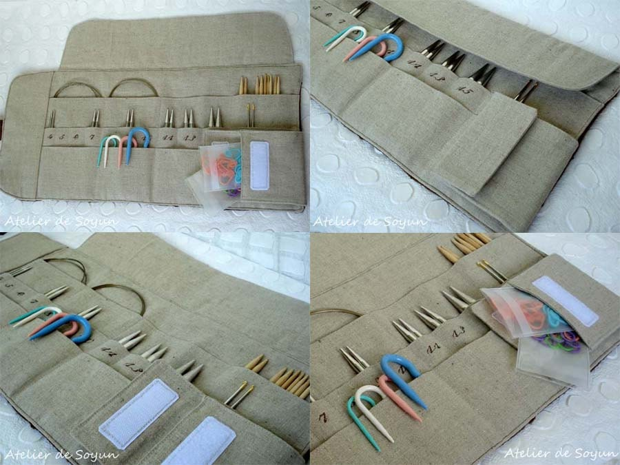 Interchangeable Knitting Needle Case Sewing Pattern : needle holder needle case knitting needle case double pointed