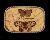 Butterfly Womens or Mens Belt Buckle.  Interchangeable.  Wearable art!  Recycled belts offered.  Great for teens, hipsters, professionals.