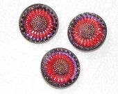 Florals of Fancy button-Czech Glass Button