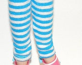 Turquoise And White  Striped Capri Pants For Blythe...