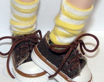 Short Yellow and White Striped Socks For Blythe...