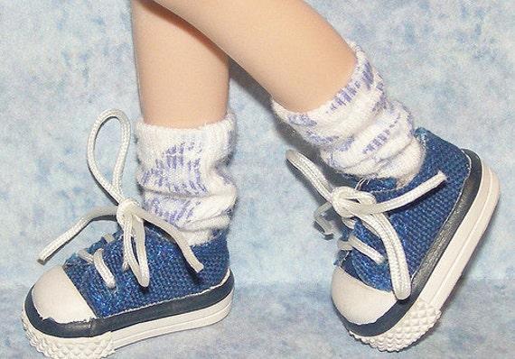 Short Blue Flower Socks For Blythe...One Pair Per Listing...