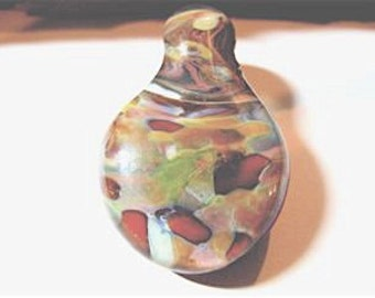 SALE- Hand Made Boro Pendant From Misty Creek Studio Artist Terry Sieber