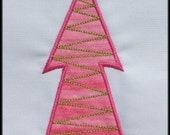 Set of 5 Applique designs Be Merry Christmas Trees