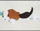 INSTANT DOWNLOAD Stick Beagle Puppy Applique designs