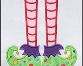 INSTANT DOWNLOAD Elf Feet Applique designs 3 sizes