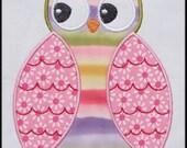 INSTANT DOWNLOAD HOOT Owl Applique designs