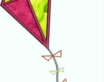 INSTANT DOWNLOAD Kite Applique designs 3 sizes