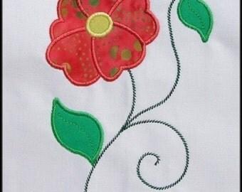 INSTANT DOWNLOAD Fleur d'Amour Applique designs 3 sizes