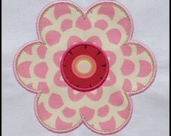 INSTANT DOWNLOAD Pretty flower applique designs